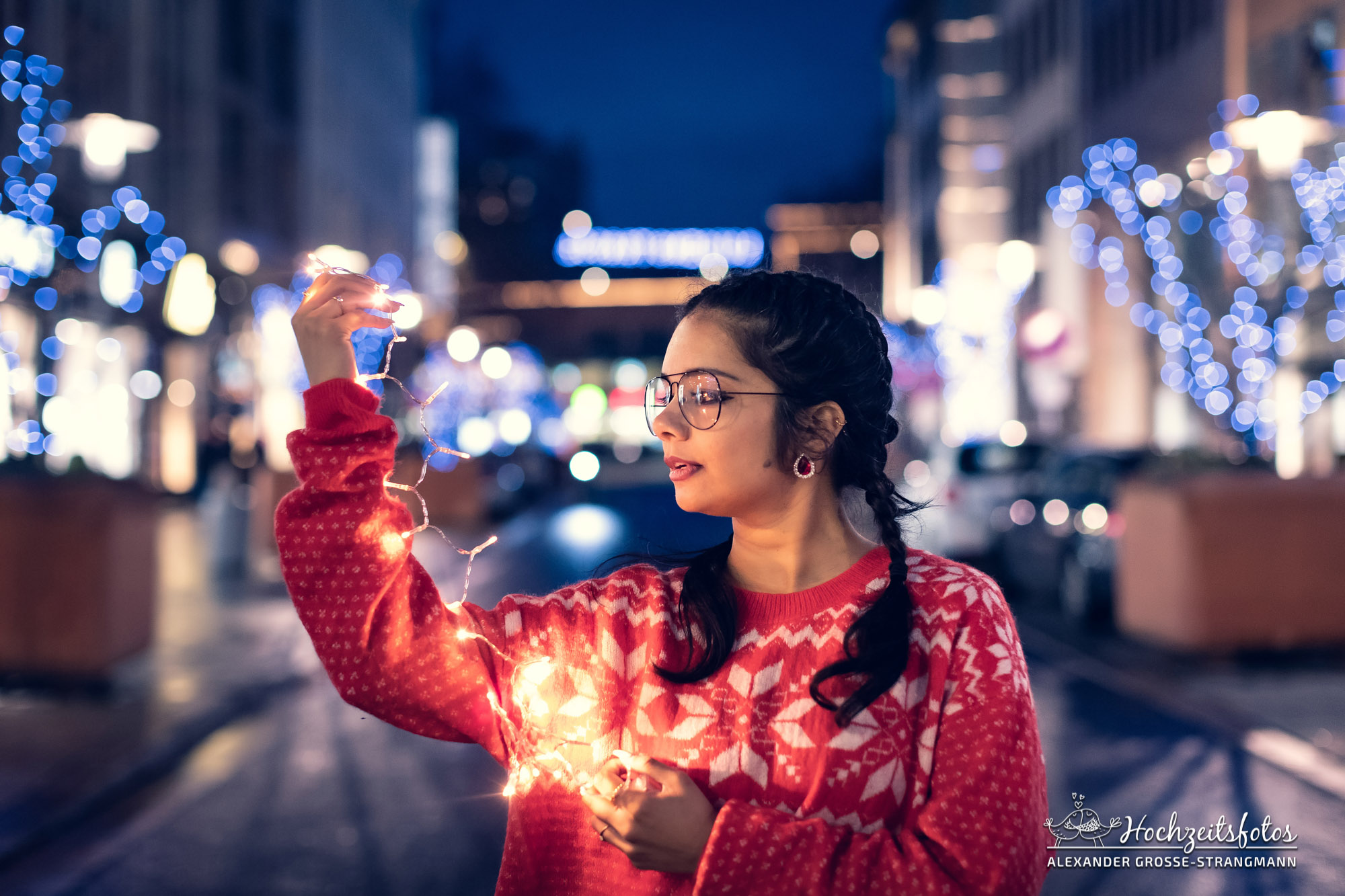Fotoshooting auf dem Weihnachtsmarkt in Hannover
