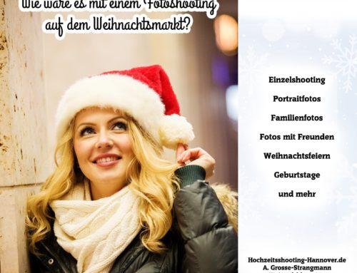 Fotoshooting auf dem Weihnachtsmarkt